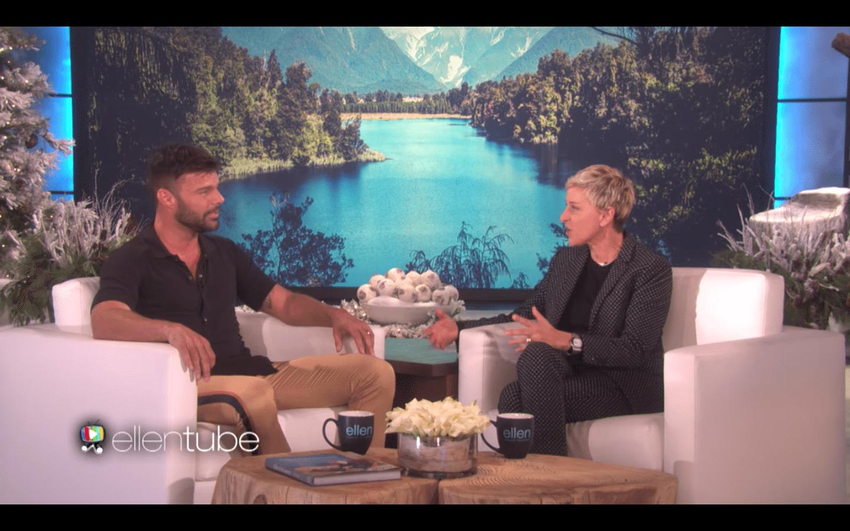 Ricky Martin on Ellen