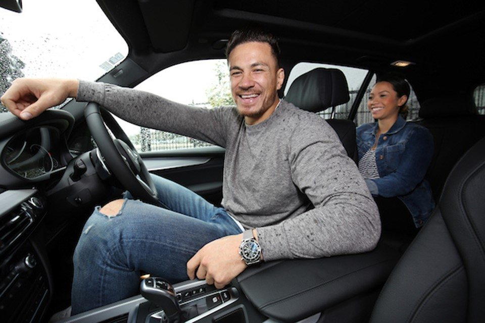 Sonny Bill Williams in a BMW