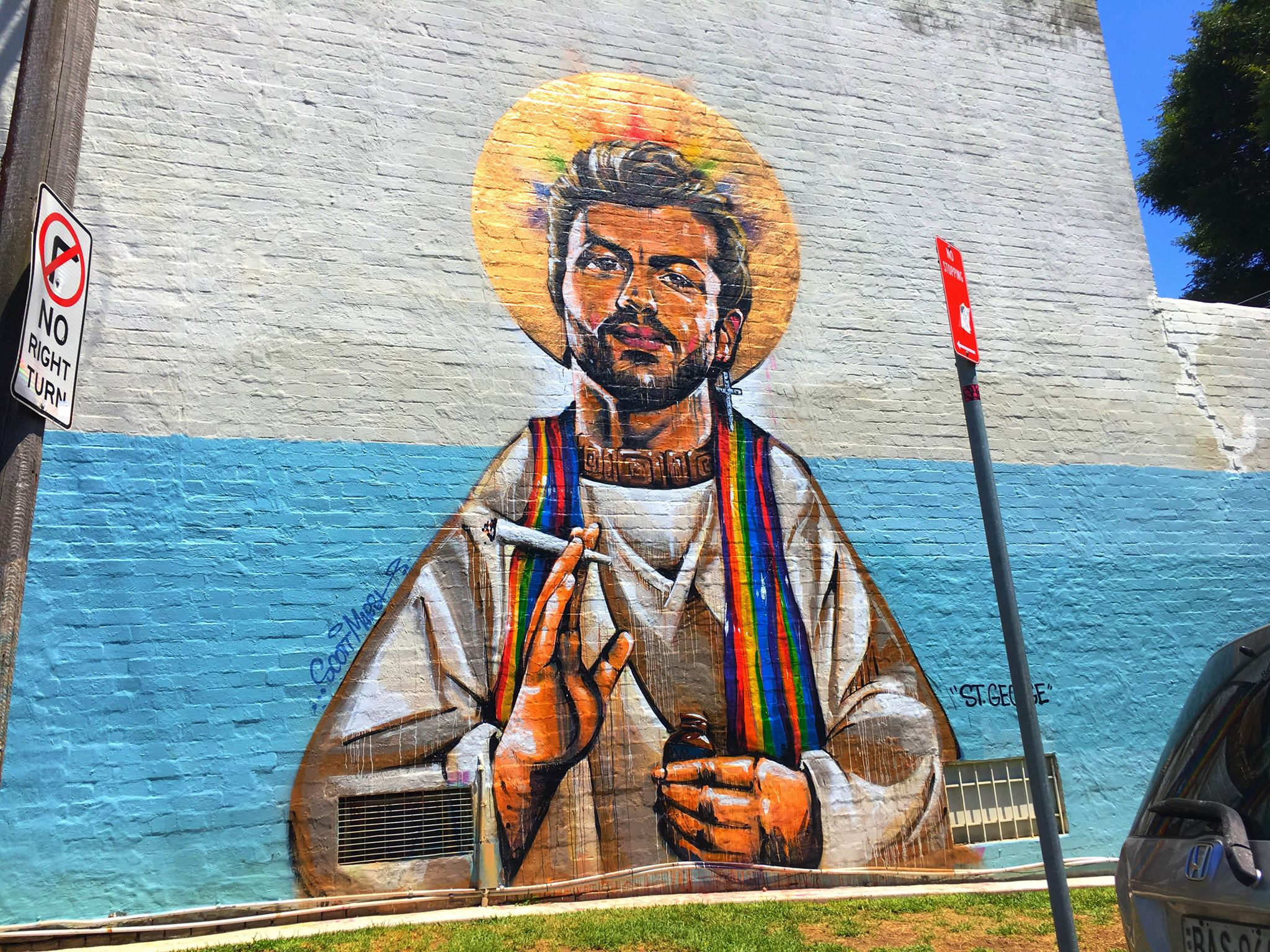 George Michael mural in Sydney