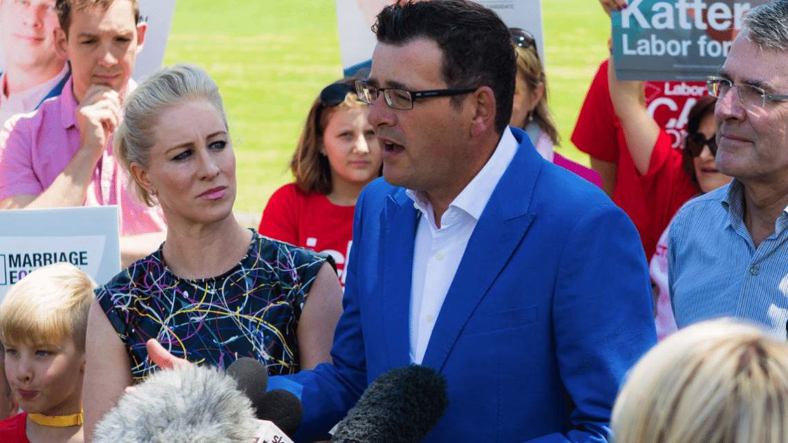 Premier Andrews speaking