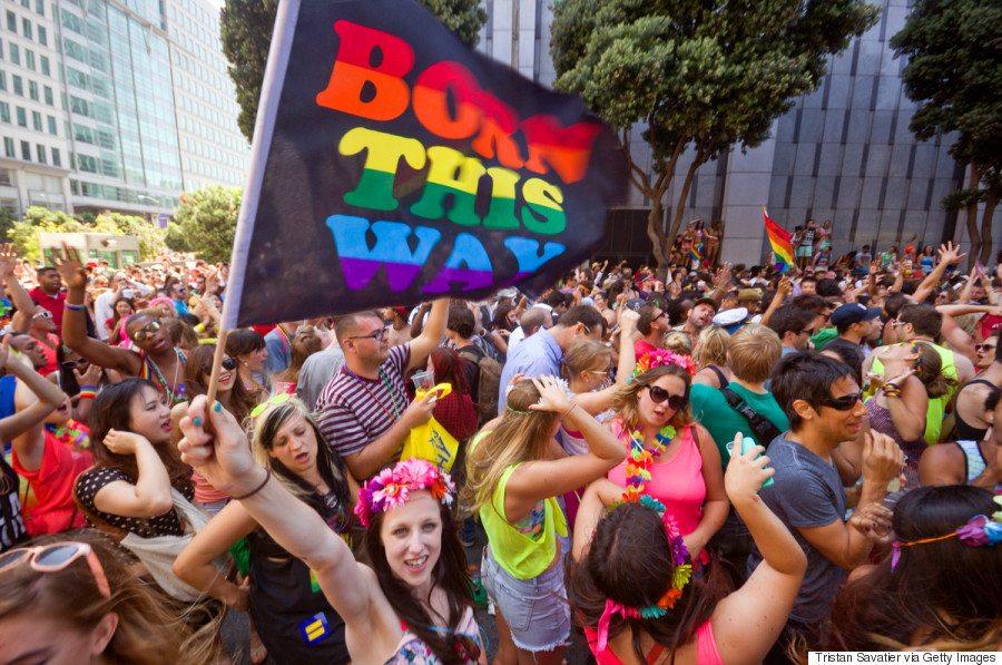 People dancing at San Fransicso pride