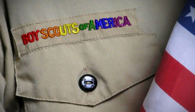 Boy Scouts of America in rainbow