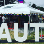 AUT stall at Big Gay Out