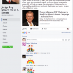 Judge Roy Moore LGBT Rainbow Reaction Facebook