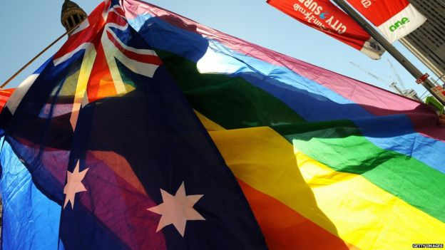 Australia marriage flag
