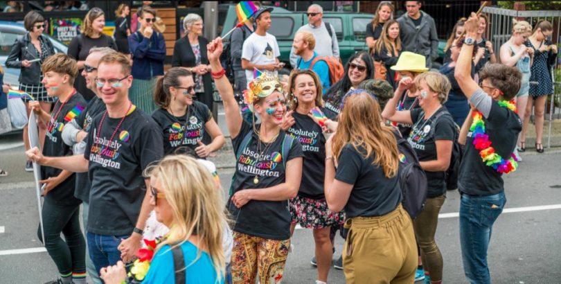 Go Tribal party Wellington Pride Parade