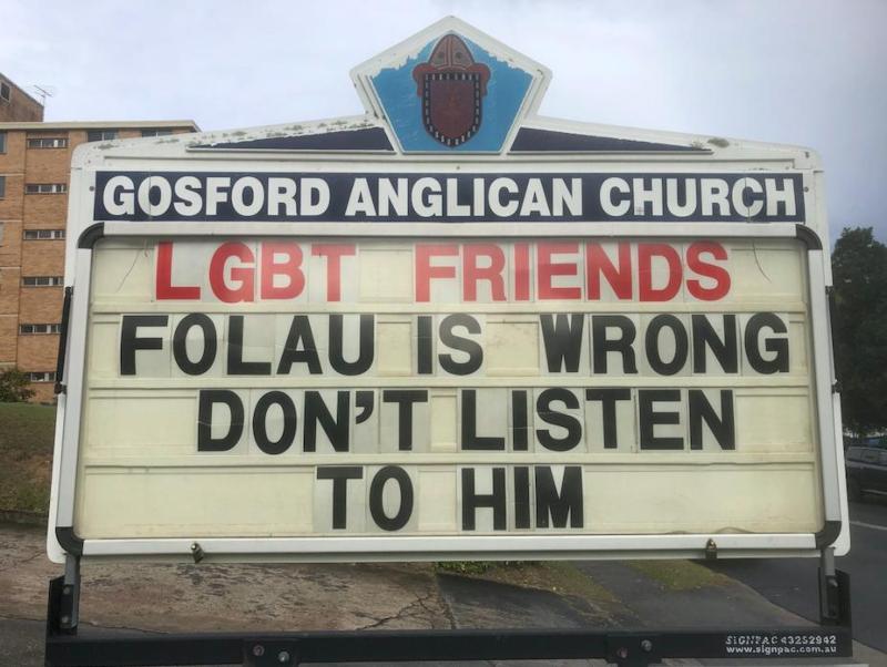 Australian Church Stands Up To Homophobia And Folau