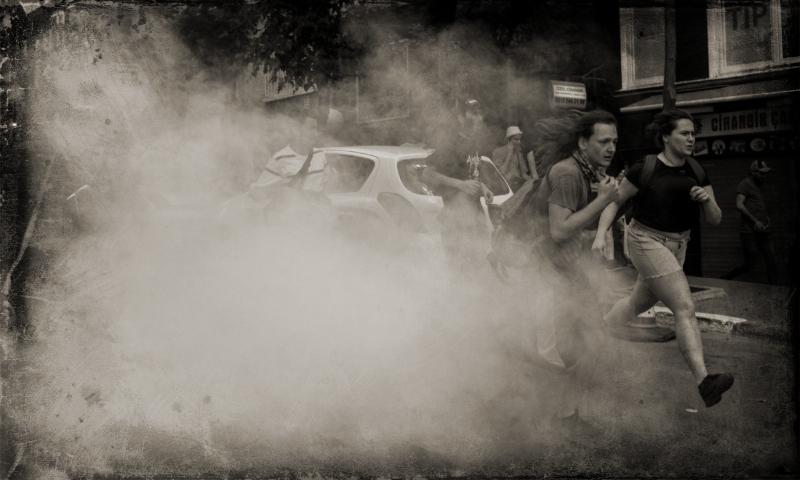 Tear Gas Used On Pride