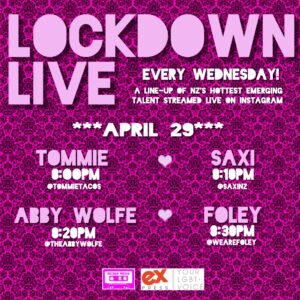 LOCKDOWN LIVE LINE-UP APRIL 29