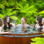 Secret Spot girls in hot tub